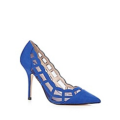 Faith - Blue suede mesh heels