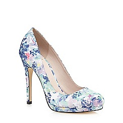 Faith - Blue 'Cody' floral print court shoes