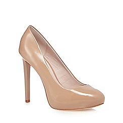 Faith - Beige patent court shoes