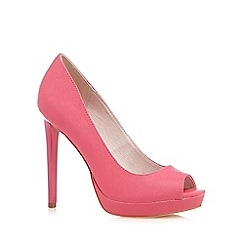 Faith - Pink 'Connie' peep toe high courts