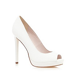 Faith - White 'Connie' peep toe high courts