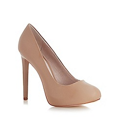 Faith - Nude platform wide fit court shoes