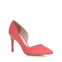 Faith - Bright pink wide fit high court shoes