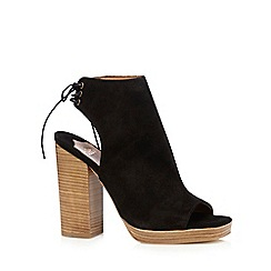 Faith - Black suede 'Ellie' lace up shoe boot