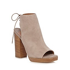 Faith - Grey suede 'Ellie' lace up shoe boot
