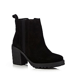 Faith - Black suede boots heels