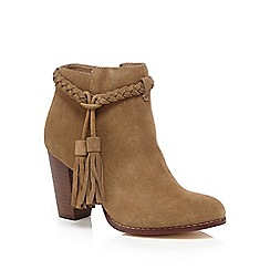 Faith - Beige leather 'Suzi' high ankle boots