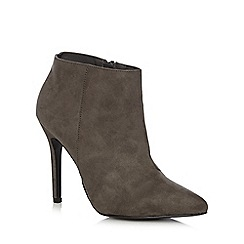 Faith - Grey suedette ankle boots