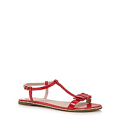 Faith - Red 'Jessie' bow applique sandals
