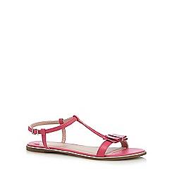 Faith - Pink 'Jessie' bow applique sandals