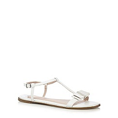 Faith - White 'Jessie' bow applique sandals
