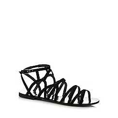 Faith - Black lace up flat shoes