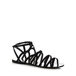 Faith - Black lace up flat shoes