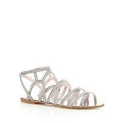 Faith - Grey 'Jet' flat gladiator sandals