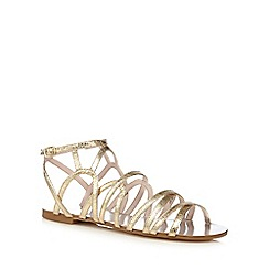 Faith - Gold gladiator sandals