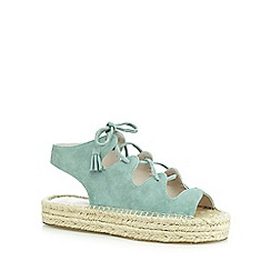 Faith - Light green 'Jagged' suedette sandals