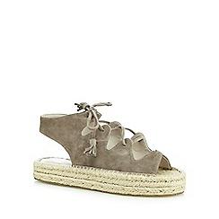Faith - Grey 'Jagged' suedette sandals