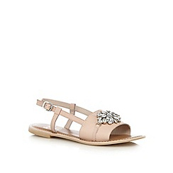 Faith - Light pink leather jewel stone sandals