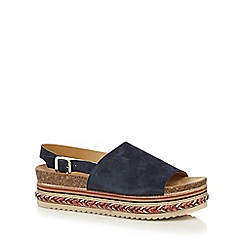Faith - Navy 'Jarvis' suede sandals