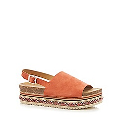 Faith - Orange 'Jarvis' suede sandals