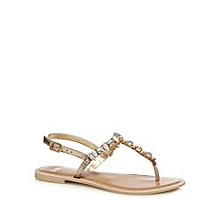 Faith - Gold jewell embellished sandals
