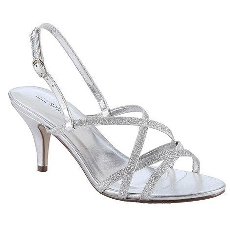 Call It Spring - Silver Glitter Multi-Strap Sandals