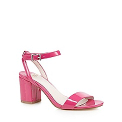 Faith - Pink patent 'Drake' mid heel sandals
