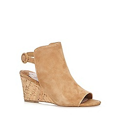 Faith - Tan 'Destiny' suede high wedge shoe boots