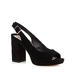 Faith - Black 'Dusty' high sandals