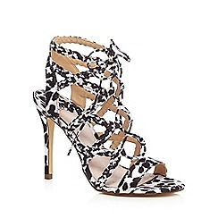Faith - Black and white 'D'angelo' high heeled sandals