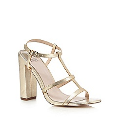 Faith - Gold shimmer-effect high sandals