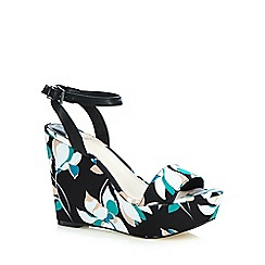 Faith - Multi-coloured 'Demi' high wedge sandals