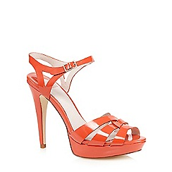 Faith - Orange patent 'Darius' high heeled sandals