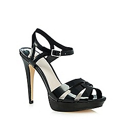 Faith - Black patent 'Darius' high heeled sandals