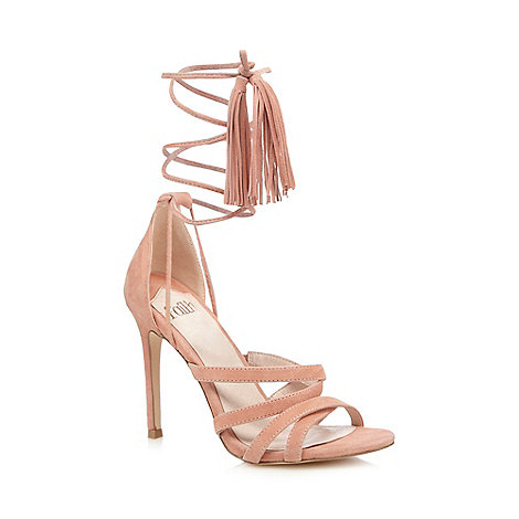Faith - Pink +Daft+ suede ankle lace up high sandals