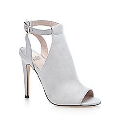 Faith - Grey 'Dandy' suedette high shoe boots