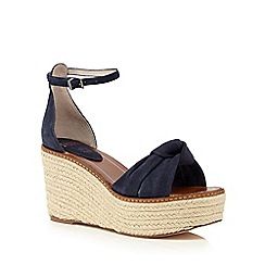 Faith - Navy 'Dubz' high wedge sandals