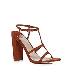 Faith - Tan suedette high sandals