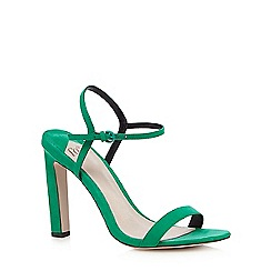Faith - Green suedette 'Delta' sandals