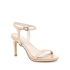 Faith - Light pink patent 'Dolly' wide fit high sandals