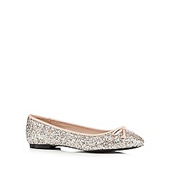 Faith - Silver sequin ballet shoes