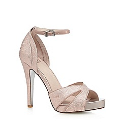 Faith - Light pink glitter high sandals