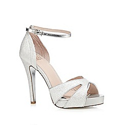Faith - Silver 'Lindsay' glitter high sandals