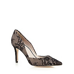 Faith - Black lace 'Fergie' court shoes