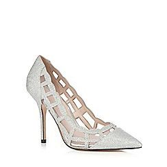 Faith - Silver metallic mesh heels