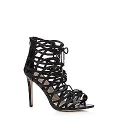 Faith - Black lace up high sandals