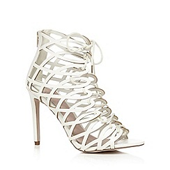 Faith - White lace up high sandals