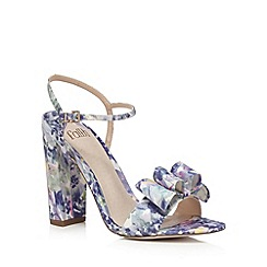 Faith - Multi-coloured floral print high sandals