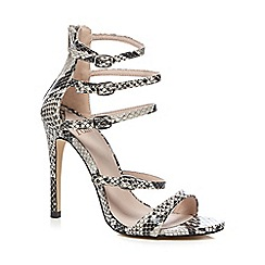 Faith - Grey 'Leanne' snakeskin-effect high sandals