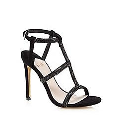 Faith - Black studded high sandals